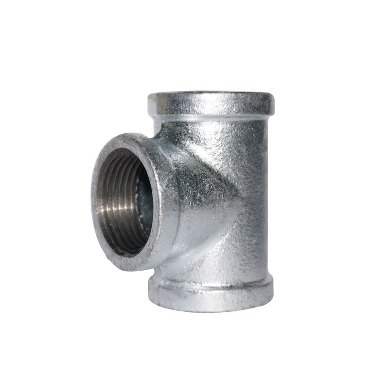 ANSI Standard Black Paint Malleable Iron Tee 3 Way Pipe Fitting Square Head Code