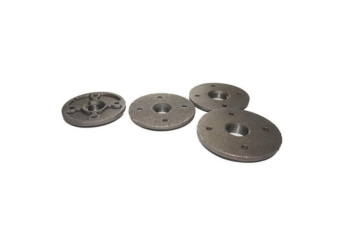 Standard Cast Iron Pipe Flanges , Decorative Pipe Black Iron Pipe Floor Flange  3 4
