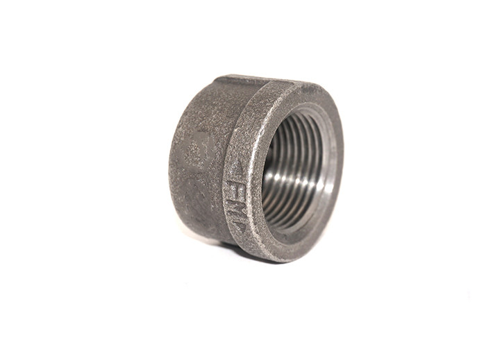 BSPP Threaded Pipe Fitting Cap Round Head Cast Iron Cap Fire Protection Design